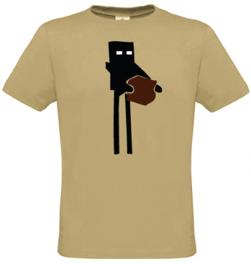 Enderman Minecraft inspired t-shirt