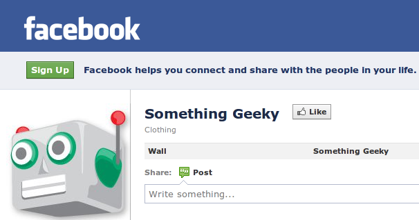 Something Geeky Facebook page