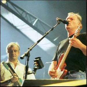 Douglas Adams performing with Pink Floyd