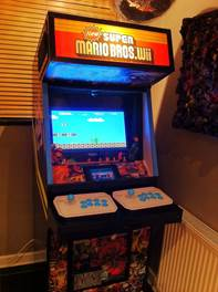 arcade machine assembled and working mario 2