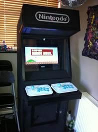 arcade machine assembled and working mario