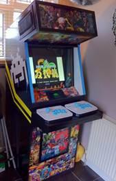 arcade machine assembled and working