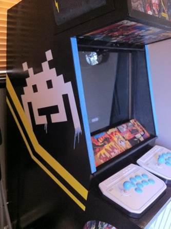 arcade machine build painted left side