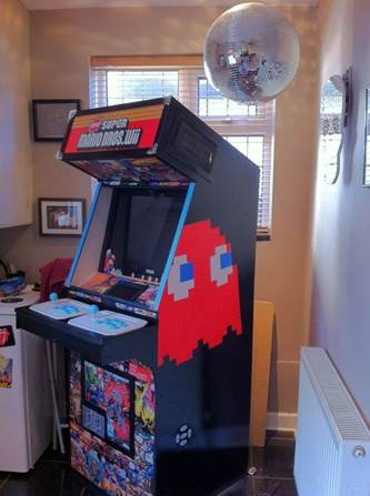 arcade machine build painted sides