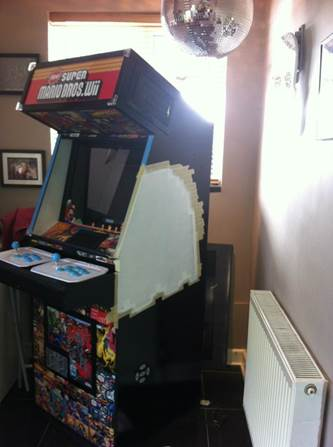 arcade machine build painting the sides