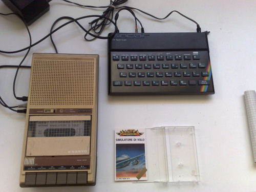 Sinclair ZX Spectrum and tape deck