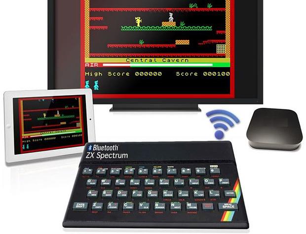 ZX Spectrum Bluetooth keyboard mockup