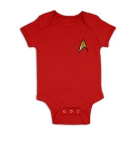 Gold Starfleet Badge baby grow