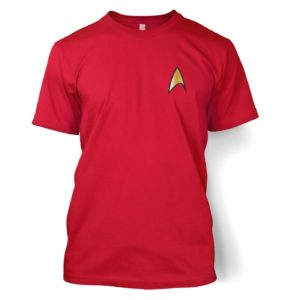 Gold Starfleet Badge t-shirt