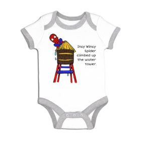 Incy Wincy Spiderman baby grow