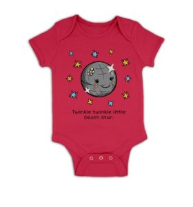 Twinkle Twinkle Death Star baby grow